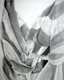 Exhibited at the 2001 Scholastic Art Awards (Charcoal on charcoal paper, 2001)