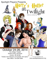 """Theater poster for a youth production of """"Harry's Hotter at Twilight,"""" a parody play. (Digital, June 2014)"""