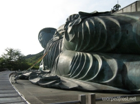The Reclining Buddha at Nanzōin, which is the first stop in the 88 temple pilgrimage of Sasaguri & Shikoku. This is the largest bronze reclining Buddha in the world (August 2010)