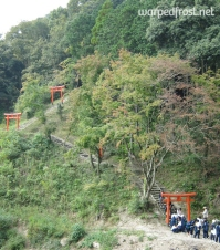 The first year students of my first school climbing Mt. Shiōji (October 2009)