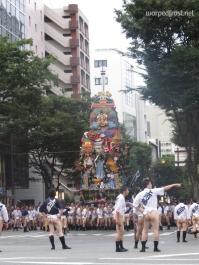 The final float in the Hakata Yamakasa festival (July 2013)