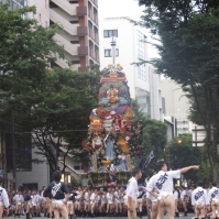 The final float in the Hakata Yamakasa festival (July 2013)