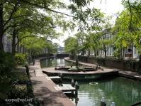 A peaceful canal in the theme park Huis Ten Bosch in Nagasaki (November 2010)