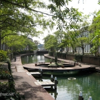 A peaceful canal in the theme park Huis Ten Bosch in Nagasaki (November 2010)