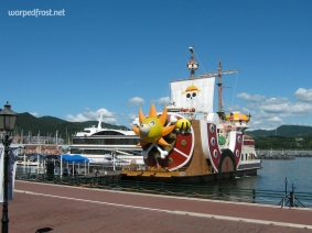 The Thousand Sunny docked at Huis Ten Bosch in Nagasaki (August 2012)