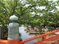 Looking toward the dock where you get on the canoes that ply the canals in Yanagawa (May 2013)