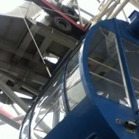 From within the ferris wheel in Yokohama (February 2013)
