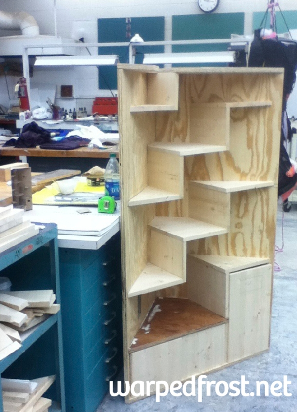 Most construction was done at this point, all that needed to be done was attach the doors. But first...