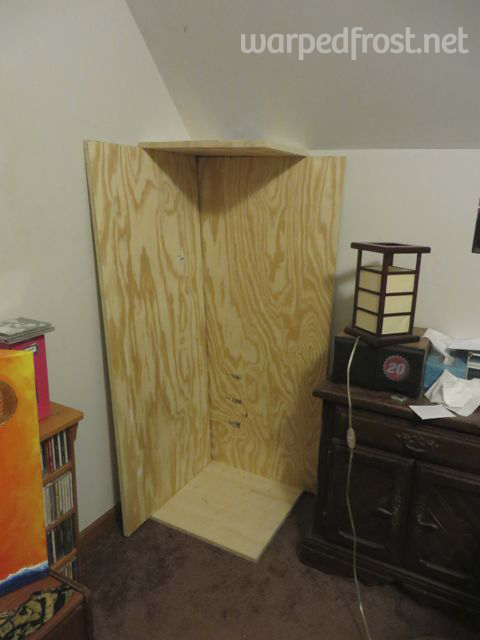 Putting the wood in the corner didn't help me visualize it much, but...