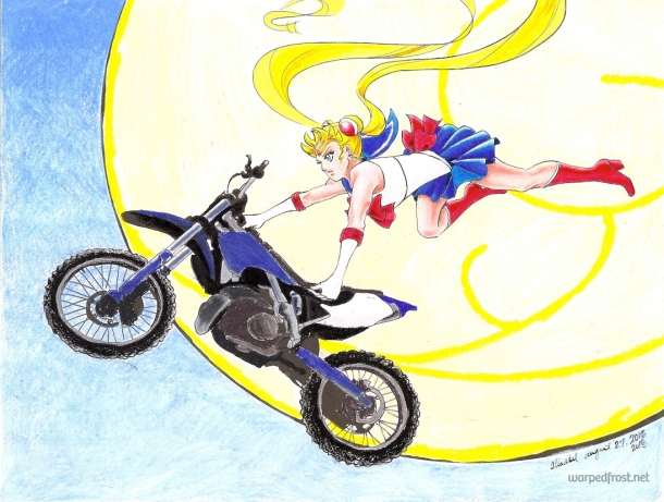 ♪ Riding dirt bikes by moonlight, winning love by daylight ♪