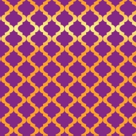 Quatrefoil pattern made in Illustrator, 2017