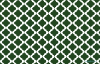 Hunter Green Quatrefoil