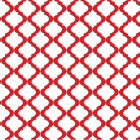 Red Lattice Quatrefoil