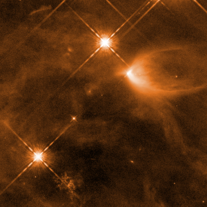 Photo showing infant stars in the Orion Nebula as taken by the Hubble Space Telescope